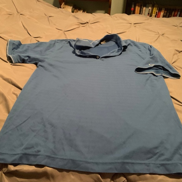 Nike Other - NIKE FIT DRY Men's Baby Blue SS Shirt. Size Large